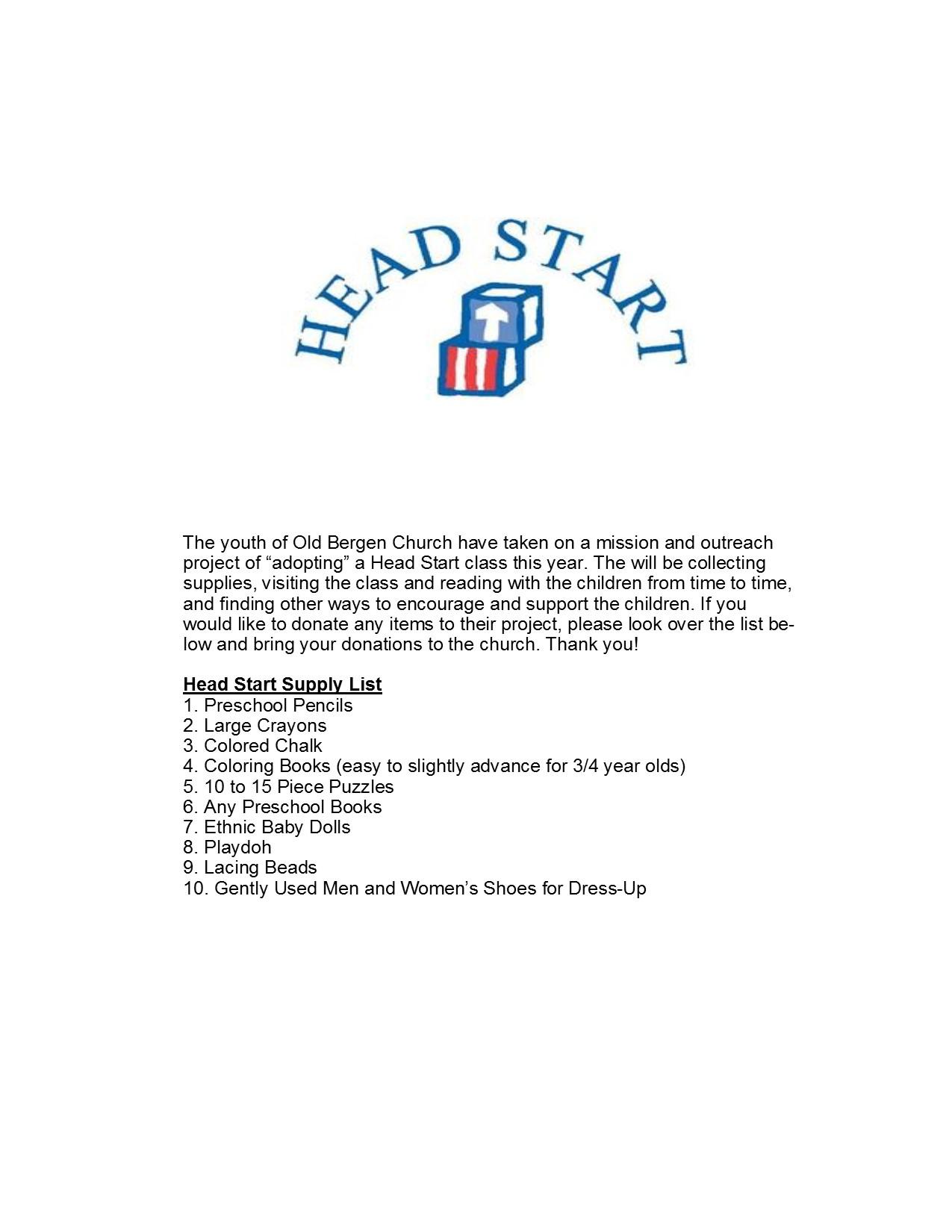 head start flyer